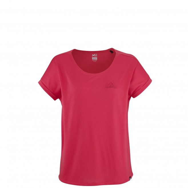 Tee-Shirt manches courtes - Femme - Rouge UNIT LYOCELL TS SS W Millet