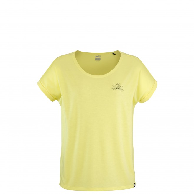 Tee-Shirt manches courtes - Femme - Jaune UNIT LYOCELL TS SS W Millet