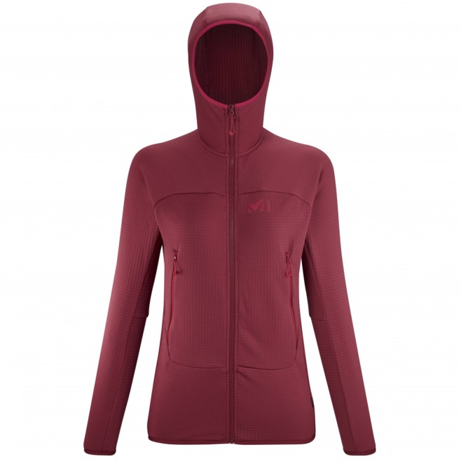 Polaire - Femme - Rouge FUSION GRID HOODIE W Millet