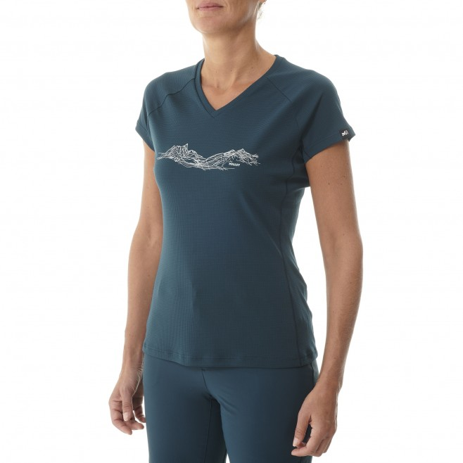 Tee-Shirt manches courtes - Femme - Rose MOUNTAIN LINES TS SS W Millet 2