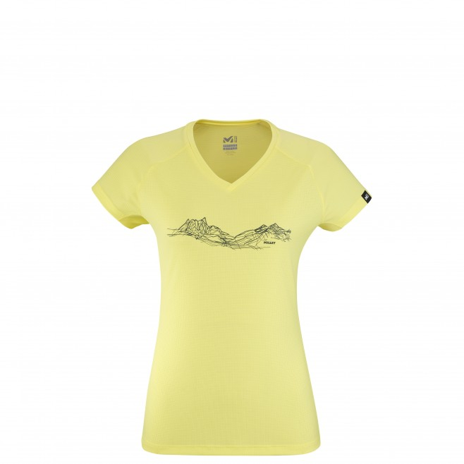 Tee-Shirt manches courtes - Femme - Jaune MOUNTAIN LINES TS SS W Millet
