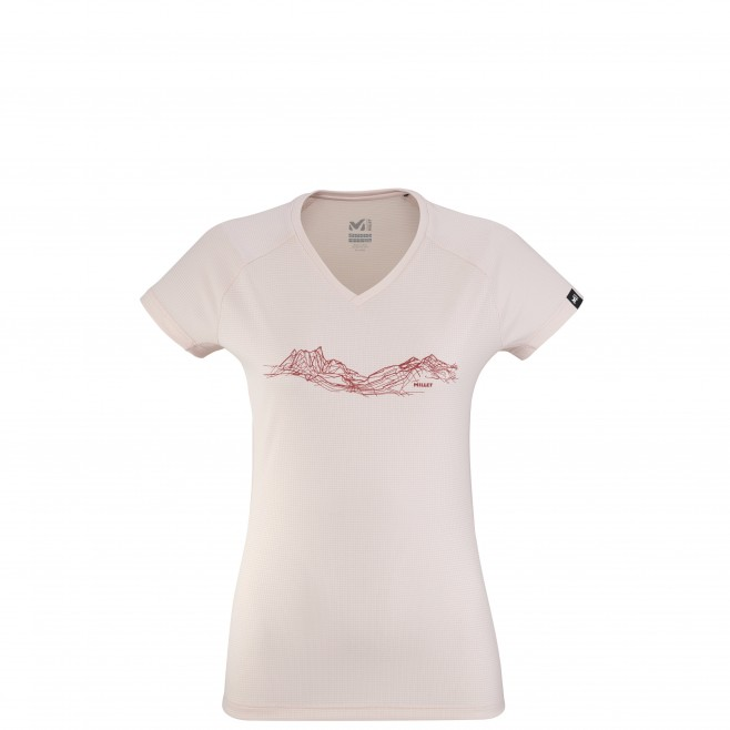 Tee-Shirt manches courtes - Femme - Rose MOUNTAIN LINES TS SS W Millet