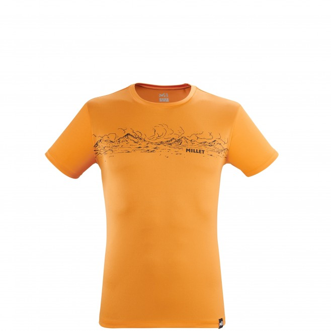 Tee-Shirt manches courtes - Homme - Orange ROLLING CLOUDS TS SS M Millet