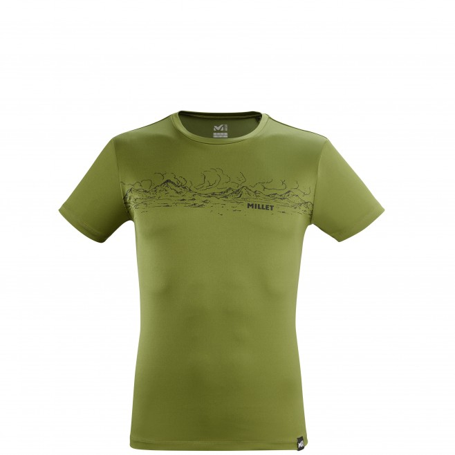 Tee-Shirt manches courtes - Homme - Kaki ROLLING CLOUDS TS SS M Millet