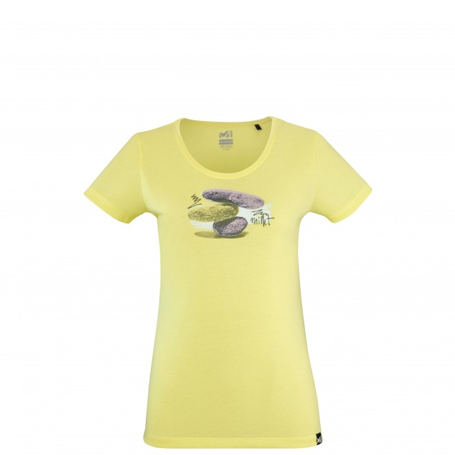 Tee-Shirt manches courtes - Femme - Jaune STONE HARMONY TS SS W Millet