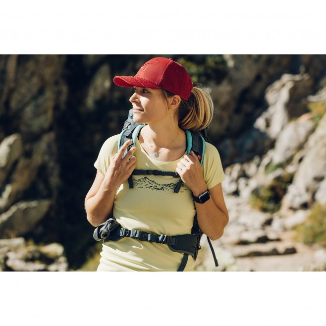 Tee-Shirt manches courtes - Femme - Jaune HAZY MOUNTAINS TS SS W Millet 2