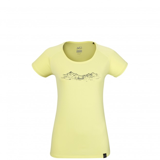 Tee-Shirt manches courtes - Femme - Jaune HAZY MOUNTAINS TS SS W Millet