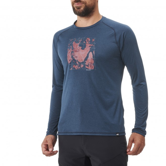 Tee-Shirt manches longues - Homme - Bleu marine TRACK FINDER TS LS M Millet 2