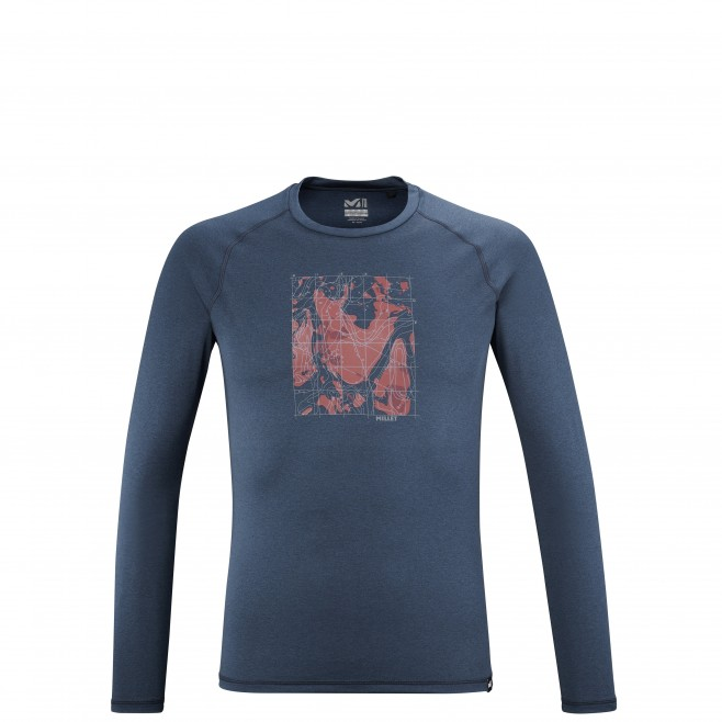 Tee-Shirt manches longues - Homme - Bleu marine TRACK FINDER TS LS M Millet