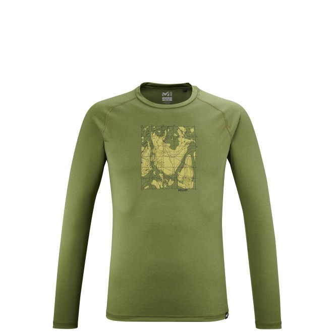 Tee-Shirt manches longues - Homme - Kaki TRACK FINDER TS LS M Millet