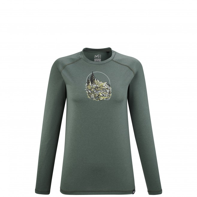 Tee-Shirt manches longues - Femme - Kaki TRACK FINDER TS LS W Millet