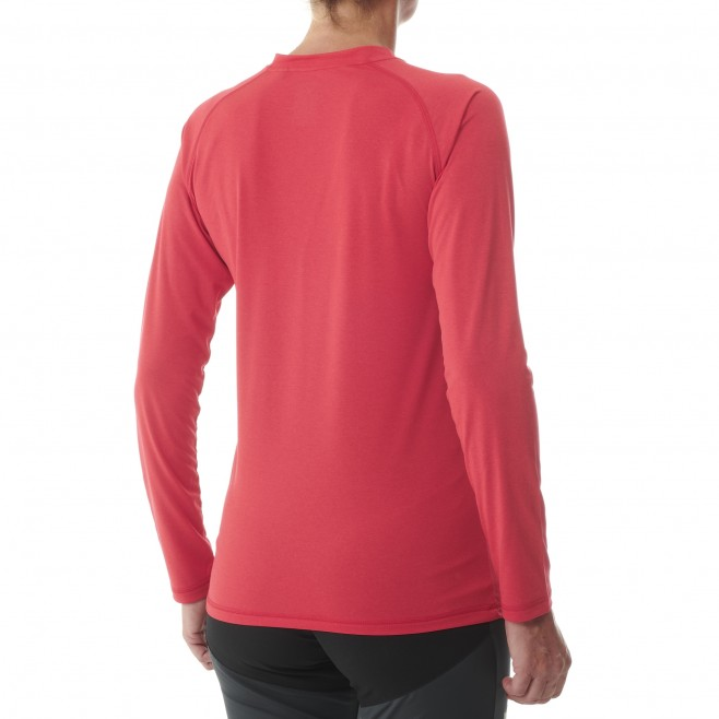Tee-Shirt manches longues - Femme - Rouge TRACK FINDER TS LS W Millet 3