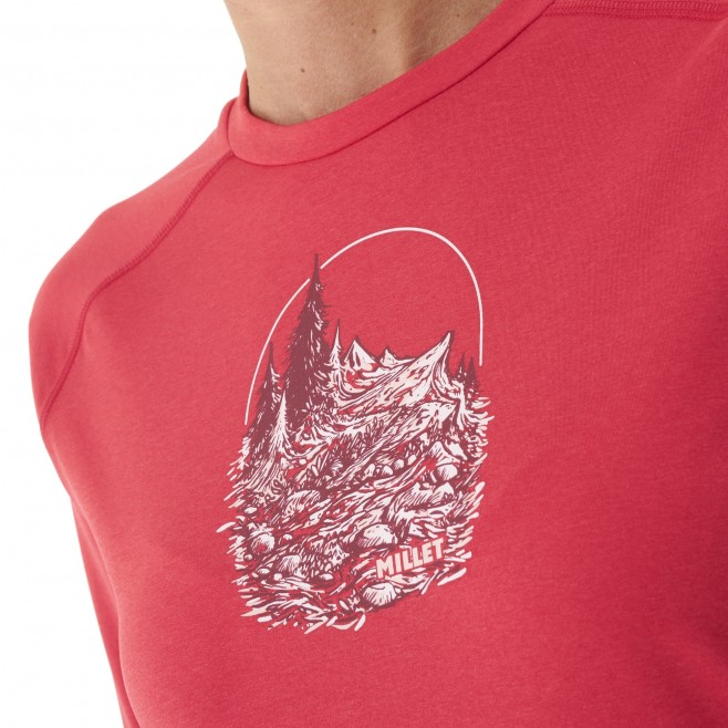 Tee-Shirt manches longues - Femme - Rouge TRACK FINDER TS LS W Millet 4