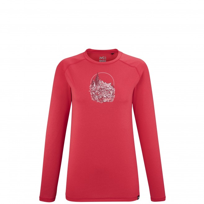 Tee-Shirt manches longues - Femme - Rouge TRACK FINDER TS LS W Millet