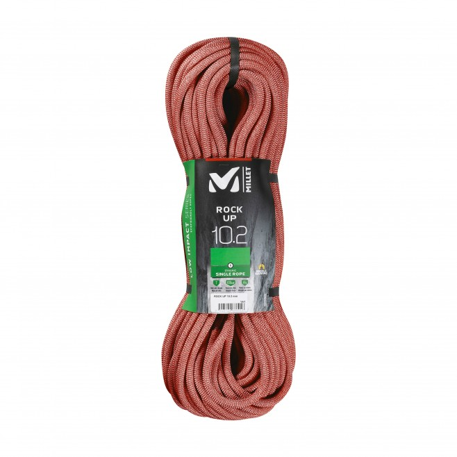 Corde a simple - Rouge ROCK UP 10,2mm 200m Millet
