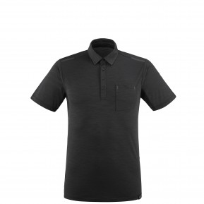 Imja Wool Polo Black - Noir Millet France