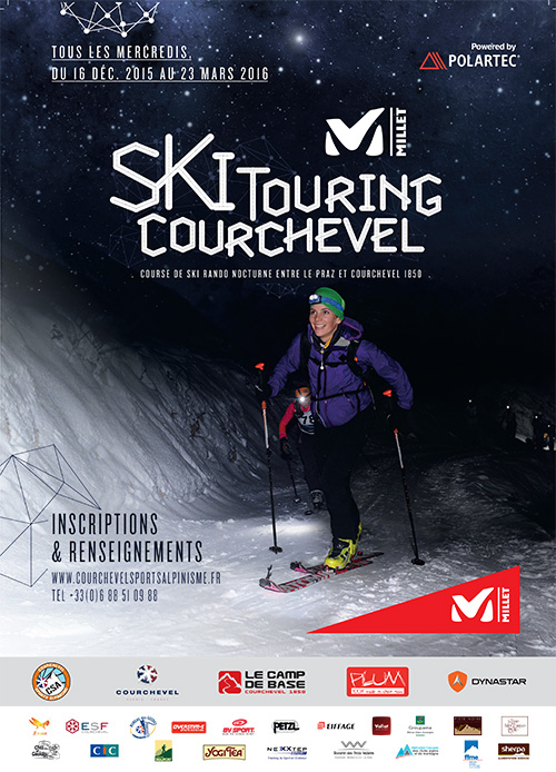 Millet ski touring courchevel affiche